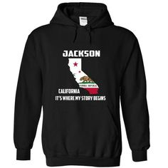 Jackson California Its Where My Story Begins! Special T - #love gift #grandma gift. SAVE => https://www.sunfrog.com/LifeStyle/Jackson-California-Its-Where-My-Story-Begins-Special-Tees-2014-4279-Black-12051098-Hoodie.html?68278