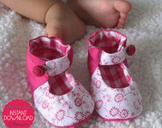 Zapatos de bebé de Mary Jane 7 tamaños por LittleMelaDesign