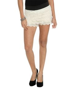 Yes, I think I will.....Tiered Crochet Short from WetSeal.com