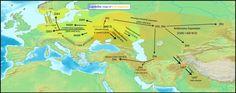 Y DNA spread by Indo Europeans (R1a1a1 M417, R1b1a2a1 L51) (R1b L23?, R1b M73?, Etc.)