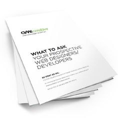 How do you choose the right company to design & develop your website? We've compiled a free report for you to help you make an educated decision.   Downloadable from our website www.cvwcreative.com.au