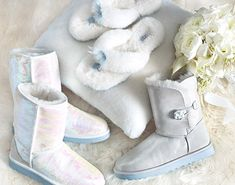 Just sayin' they are perfect for  a winter wonderland.  Oh, No They Didn't! Wedding Uggs Are Now On Sale