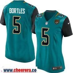 Women's Jacksonville Jaguars #5 Blake Bortles Teal Green Team Color Stitched NFL Nike Game Jersey
