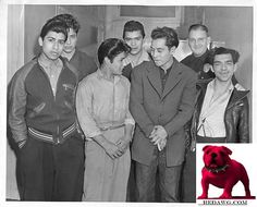 1943 Mexican Gang Pachuco Boys in custody after riot Los Angeles California
