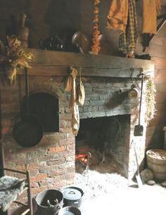 STONE. Gorgeous kitchen fireplace.