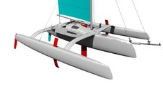 Trimaran Projects and Multihull News: Kurt Hughes 27' x 27' racing ...