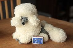 Crocheted poodle by novablue.deviantart.com on @deviantART