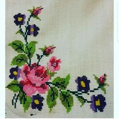 This Pin was discovered by Saf Cross Stitch Boards, Cross Stitch Heart, Cross Stitch Alphabet, Cross Stitch Flowers, Tambour Embroidery, Ribbon Embroidery, Cross Stitch Embroidery, Cross Stitch Designs, Cross Stitch Patterns