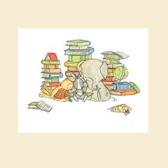 baby book room decorOur Book Club 8x10 by trafalgarssquare on Etsy, $20.00