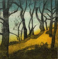 Wild Wood Landscape Quilts, Landscape Drawings, Landscapes, Sarah Ross, Linocut Prints, Art Prints, Collagraph Printmaking, Etching Prints, Illustration Art