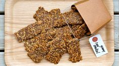 Raw Crackers With Sesame and Flax Seeds