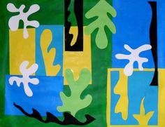 Collage façon Matisse, par Stéphanie (Matisse cutouts, workshop with the adults)