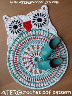 Crochet+pattern+OWL+RUG+by+ATERGcrochet++XL+by+ATERGcrochet,+€4.50