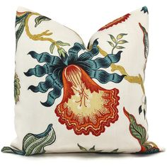 Schumacher Spark Hot House Floral Decorative Pillow Covers Square or Lumbar Pillow, Orchid Flower by PopOColor on Etsy https://www.etsy.com/listing/178975948/schumacher-spark-hot-house-floral