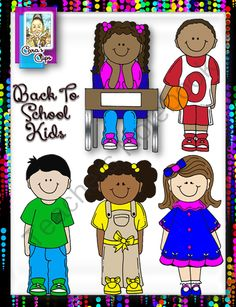 Clip Art~  Back to School Kids from Cara's Clips on TeachersNotebook.com (15 pages)