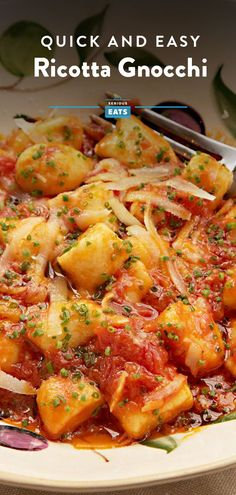 Quick and Easy Homemade Ricotta Gnocchi Recipe Easy Holiday Recipes, Thanksgiving Recipes, Easy Dinner Recipes, Appetizer Recipes, Breakfast Recipes, Weeknight Recipes, Vegetarian Recipes Dinner, Healthy Recipes, Rice Recipes