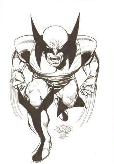 KIRBY ESQUE WOLVERINE PRINT HAND SIGNED Artist Williams X-Men