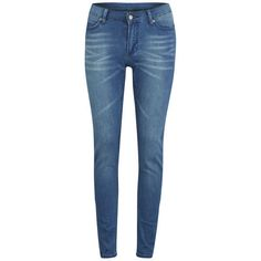 Women's 'Second Skin' high waisted skinny jeans from Cheap Monday with mid-weight, stretch denim construction and mid blue wash. Cutting a high rise, the skinn…