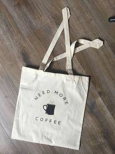 Cotton canvas tote bag all you need is coffee starbucks quote