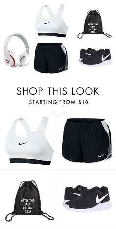 """""""Going to the gym"""" by renee-pea on Polyvore featuring NIKE and Beats by Dr. Dre"""