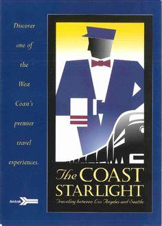 Amtrak Coast Starlight. L.A. to Seattle - hubby got 2 first class tix for a fun getaway.