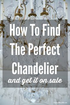 I finally found my perfect chandelier - and I'll tell you how I got it on sale! I saved $250! Dagmar's Home, DagmarBleasdale.com #chandelier #lighting #lamp #frugal #thrifty #shopping #decor