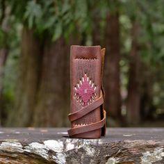 Woven One Leather Journal, Handbound