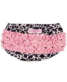 Kinsley has these... Might need the matching top...  RuffleButts Cow Print Woven RuffleButt | www.RuffleButts.com