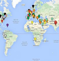 The current location of all 250 artworks from the AP Art History Curriculum Framework