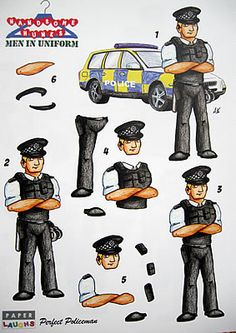 policeman decoupage - Google Search