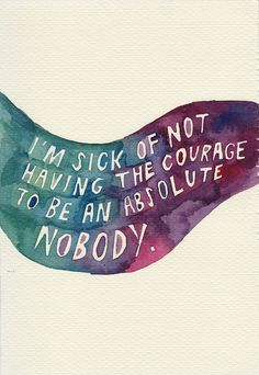 watercolor by rocketrictic, quote from j. d. salinger (via flickr)