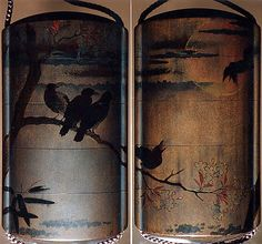 Inrō with Crows on Cherry Tree in Moonlight. Edo period (1615–1868) Date: 18th–19th century