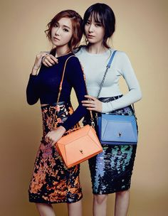 Jessica & Krystal Jung Model for Lapalette's Spring 2015 Ad Campaign