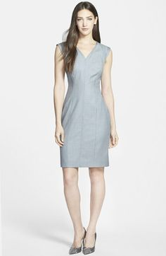 Classiques Entier® Superfine Wool V-Neck Sheath Dress available at #Nordstrom