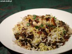 Biryani z jagnięciną ( Hyderabadi Lamb Biryani ) Biryani, Paleo Food, Paleo Recipes, Sugar Free, Lamb, Chili, Grains, Gluten Free, Chile