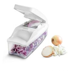 Vegetable Chopper Pro Onion Chopper by Bellemain Heaviest Duty, Vegetable Dicer Includes Interchangeable Inserts for Dice, Dice & Julienne, Catchment/Storage Container, lid and brush Onion Chopper, Food Chopper, Vegetable Chopper, Vegetable Slicer, Wax Bath, Paraffin Bath, Dumpster Diving, Storage Containers, Food Processor Recipes