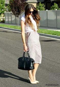 Миди, макси или юбка чуть ниже колен, продолжение (100 фото)! / модные юбки миди и макси