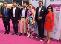On the second day (last day) of their Cannes visit, Hereditary Grand Duke Guillaume and Hereditary Grand Duchess Stéphanie of Luxembourg attended a series of events at the Cannes Film Festival 2017 to support Luxembourg's film sector. The HGD couple also visited the Marché du Film (Film Market) on May 18, 2017.