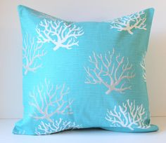 Decorative Pillow Cover  Taupe & White Coral on by SewGracious, $18.00