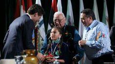 Autumn Peltier meets Prime Minister Justin Trudeau