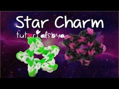 Star Charm Rainbow Loom- Design Created by JustinsToys; Tutorial by TutorialsByA