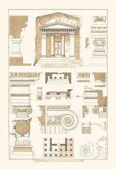 Tomb of Amyntas and Temple of Athena Polias 28x42 Giclee on Canvas