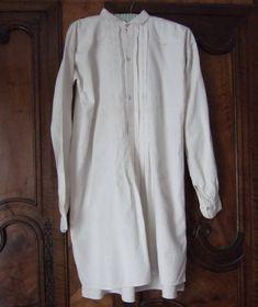 Antique French Shirt. Hemp. Rustic Shirt. Hand Made. Smock. Unisex Shirt. Linen Shirt.