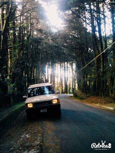 My Land Rover Discovery, riding Costa Rica green mountain.