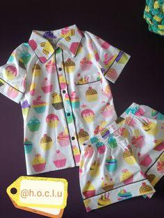 Cute Pajamas, Kids Pajamas, Pajamas Women, Pyjamas, Girls Summer Outfits, Toddler Girl Dresses, Kids Outfits, Kids Ethnic Wear, Kids Nightwear