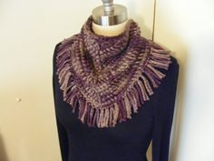 Crocheted scarf crocheted cowl fall season colored by byRickMarsh, $25.00
