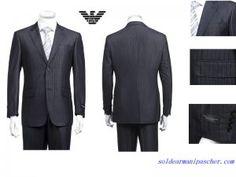 Costume Armani Collezioni Homme deux Boutons Pas Cher Bleu Foncé Costume Armani, Hugo Boss, Suit Jacket, Breast, Costumes, Blazer, Suits, My Style, Jackets