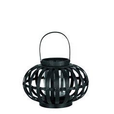 Lanterne Malin Bambou noir PM