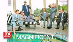 the gorgeous & talented men of NCIS ~ the most popular, most watched drama on television!  Mark Harmon, Michael Weatherly, Sean Murray, Brian Dietzen, Rocky Carroll and David McCallum on TV Guide Magazine's Rat-Pack themed shoot #NCIS #NCIS200