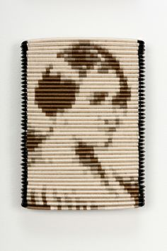 "Sonya Clark, ""Hair Craft Tapestries (detail)"", Cotton thread and plastic combs, 5 x 4 x 1 inches (each). Weaving Art, Tapestry Weaving, Natural Hair Art, Textile Fiber Art, 3d Drawings, Yarn Bombing, Textiles, Bead Art, Figurative Art"